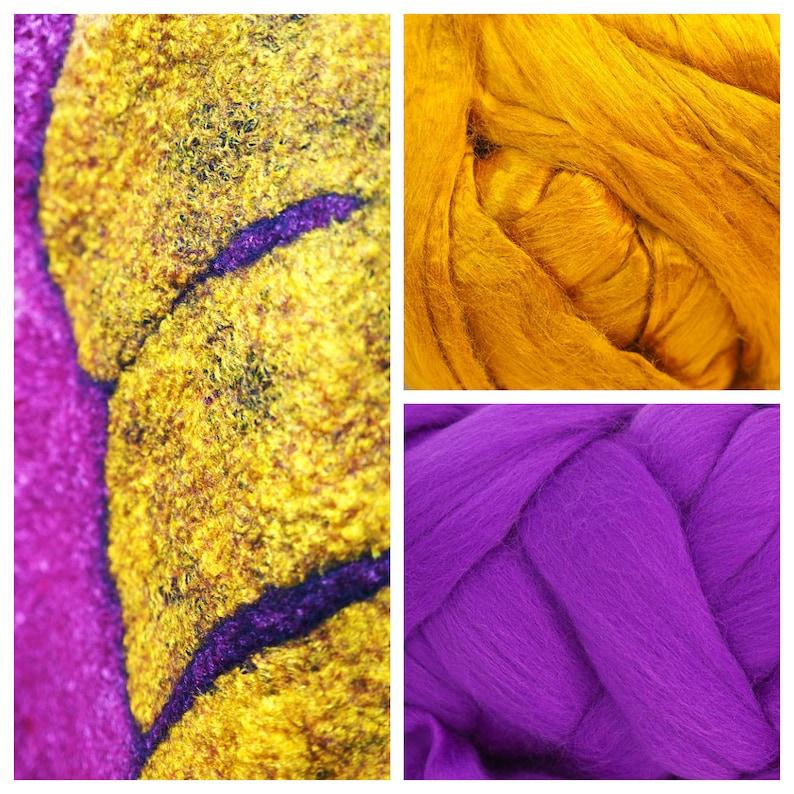 100g Purple Violet Plum Lilac Iris Extra Fine Merino Wool Tops Sliver Roving Felting Supplies Wet Felting Nuno Felting Theatre Color