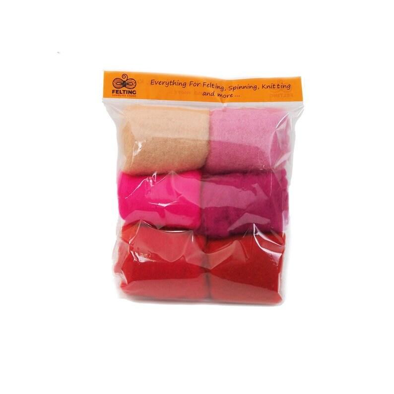 Wool Felt Kit Felting Wool Pack Carded Wool Set for Needle image 0