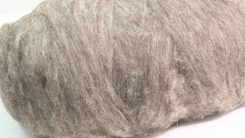 50g Natural Grey Mixed Breed Sliver for Wet Felting Nuno image 0
