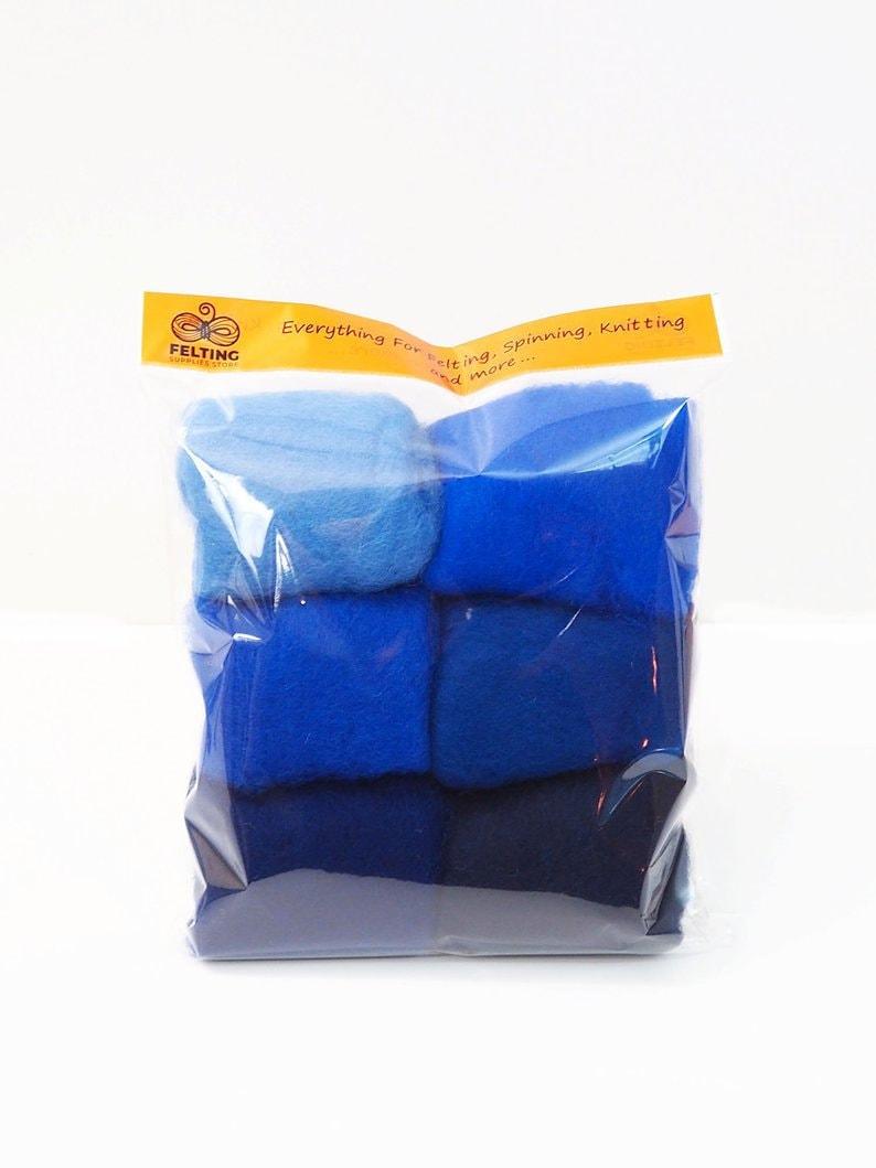 Felting Wool Kit Carded Merino Wool Batts for Needle image 0