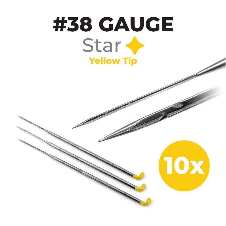 38 Gauge Star Felting Needles 10-pack For Needle Felting image 0