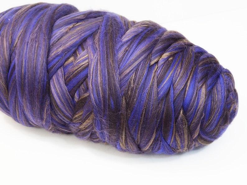 100g Luxury Extra Fine Merino Wool Tussah Silk Blend Black image 0