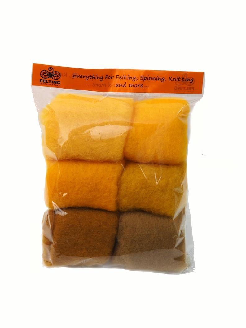 Felting Wool Kit Carded Merino Wool Batts for Needle Felting image 0