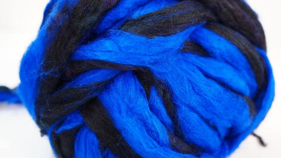 tops 50g Black Merino Wool dyed fibre roving wet felting needle felting