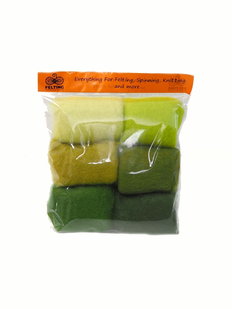 Felting Wool Kit Carded Merino Wool Batts for Needle Felting image 0