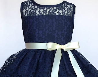 77337664b2ad Navy blue girl dress