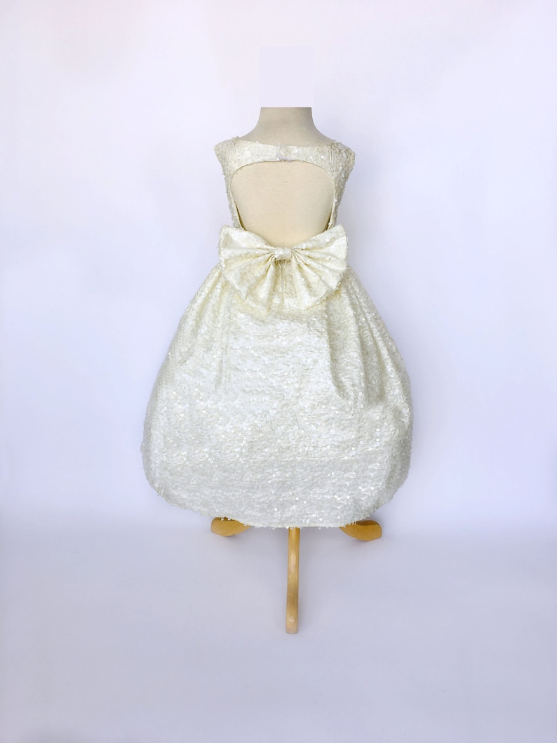 Christening Baptism Wedding Ivory Off White Flower Girl Dress  d7eac8ad4c68