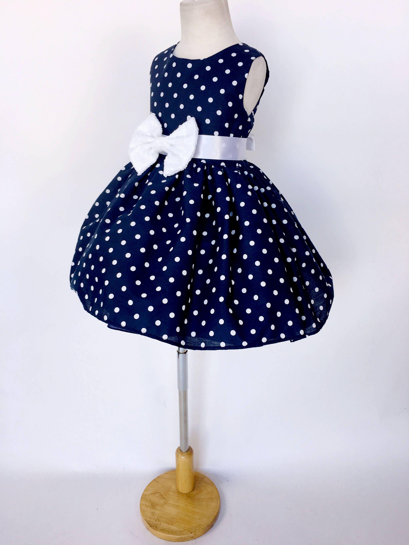 fe5e3cdabe Navy Blue Classic Gown White Polka Dot Mini Sequence Minnie