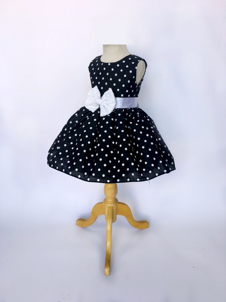 1960s Black And White Polka Dot Mini Sequence Minnie Mouse Etsy