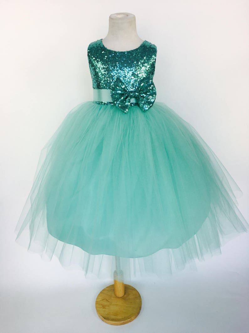 Girls' Formal Occasion Sequence Flower Girl Dress S M L Xl 2 4 6 8 10 12 14 Pageant Holiday Wedding #18 Clothing, Shoes & Accessories