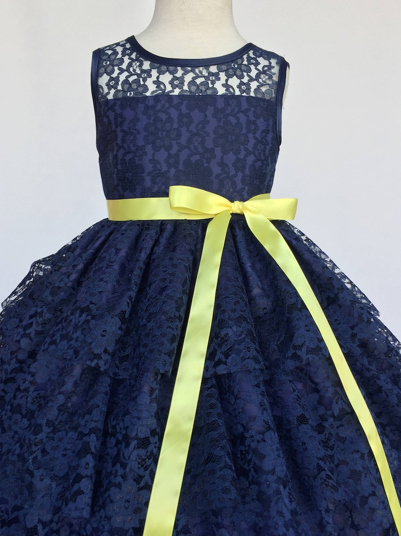 e3b2601fc183 Blue And Yellow Flower Girl Dresses