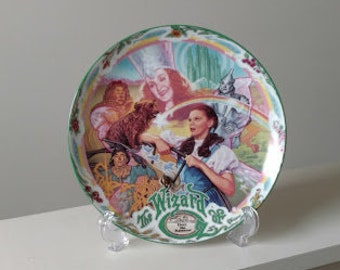 Wizard of Oz Over The Rainbow, Judy Garland Collectible Porcelain Plate with Music Box, Knowles China Limited Edition