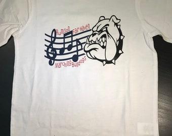 Marching Bulldog T-Shirt-CUTSOMIZABLE