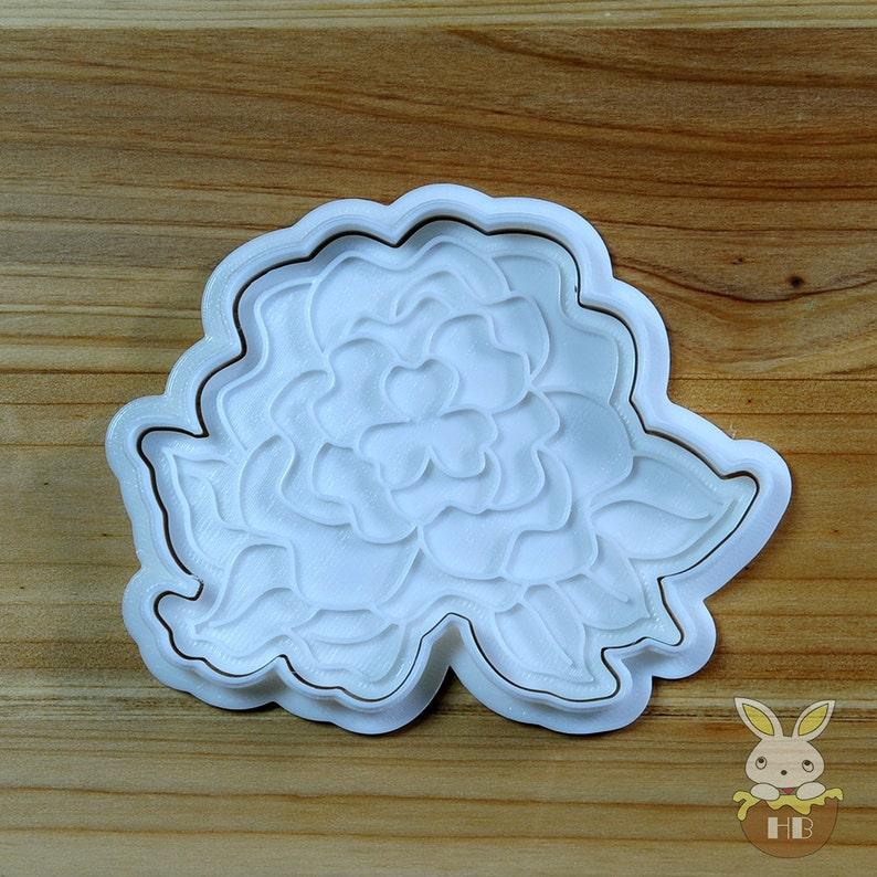 Peony Cookie Cutter and Stamp
