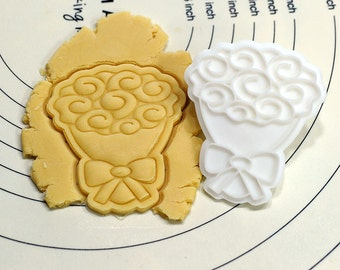 Bouquet Cookie Cutter and Stamp