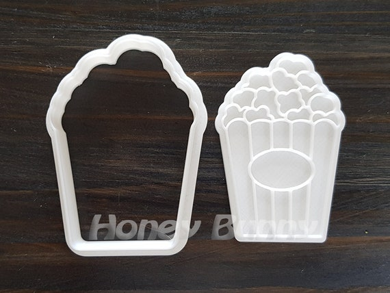 3D Printed Mini and Standard Sizes Popcorn Cookie Cutter