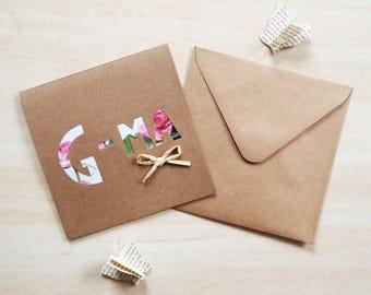 G-ma / Grandma Rustic Roses Blank Birthday Card