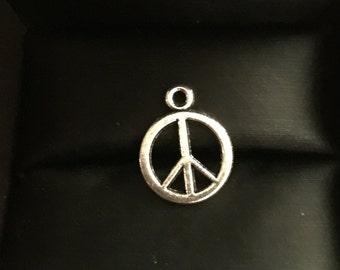 Peace Sign Charm 2 Pcs