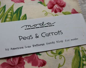 """Peas and Carrots Charm Pack 5"""" Fabric Squares American Jane Patterns Sandy Klop for Moda Fabrics"""