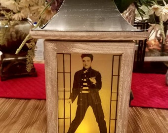 Rustic indoor Elvis Lantern