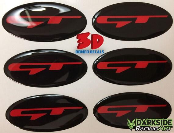 Auto Chrome black GT for 2017 Stinger Emblem Badge Sticker