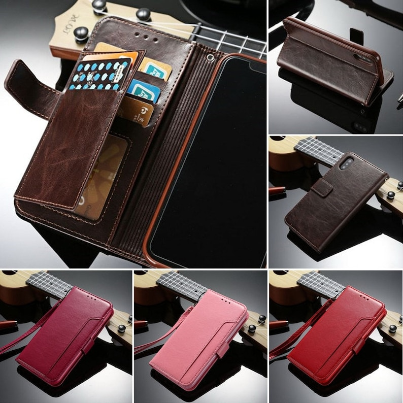 7 Hot Pink Color Retro Flip Book Phone Case for iPhone 6 7 Plus X From PU Leather with Card Holder M-06 6s Plus 6s 8 8 Plus