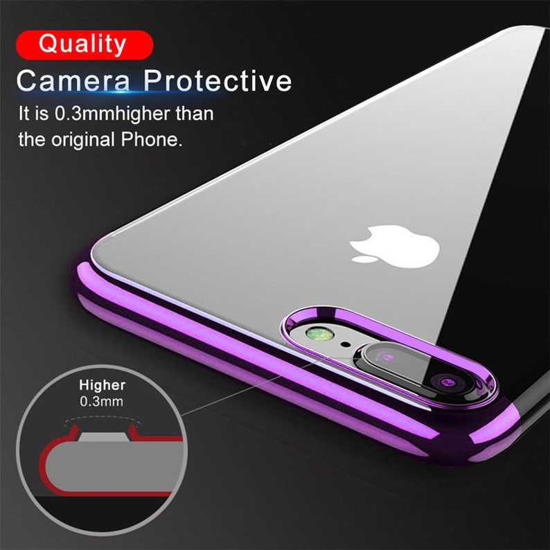 7 Plus X 6s Plus 8 Xs Xr M-07 Xs Max 6s 8 Plus 7 Rose Gold Colour Thin Transparent Silicone Phone Case for iPhone 6
