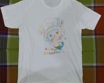 "Vintage ONE PIECE Tshirt Tony Tony Chopper Anime One Piece Manga Cartoon Japan Size ""L"""