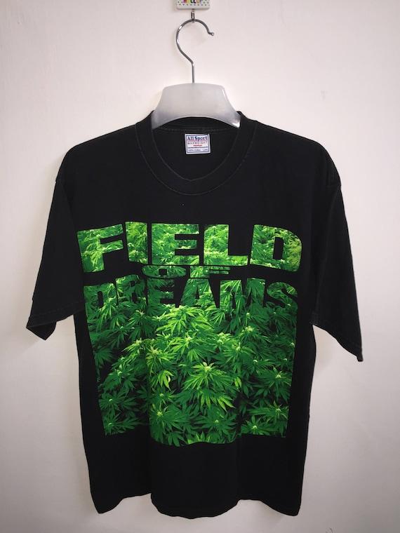 8]---vintage! La marijuana / Cannabis «Champ de rêves T-Shirt» | de Plein de | Cannabis impression chemise | Grande taille 448d77