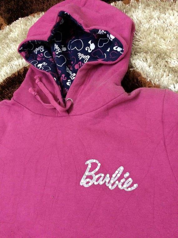 Vintage! 90s Barbie Hoodie| Pink Color| Sweater Ba
