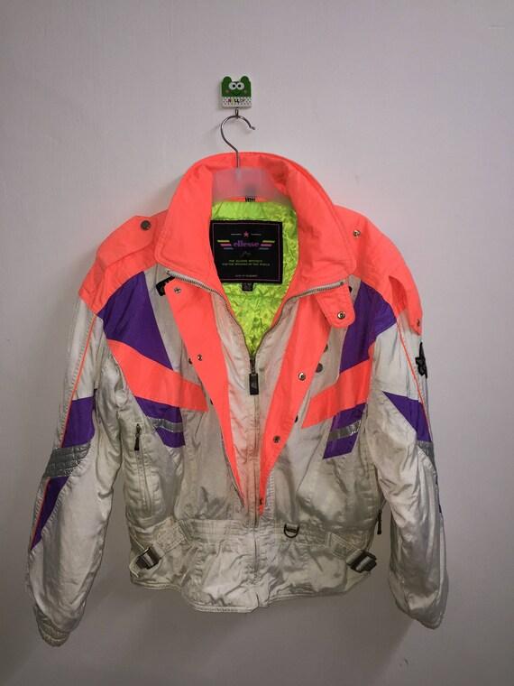 8]---Vintage! 90s Ellesse Skiing Jacket Limited De