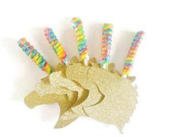 Unicorn Party Favors for Girls, Lollipop Unicorn Birthday Party Favors, My Little Pony Favors, Dessert Table, Unicorn Valentines Set of 12
