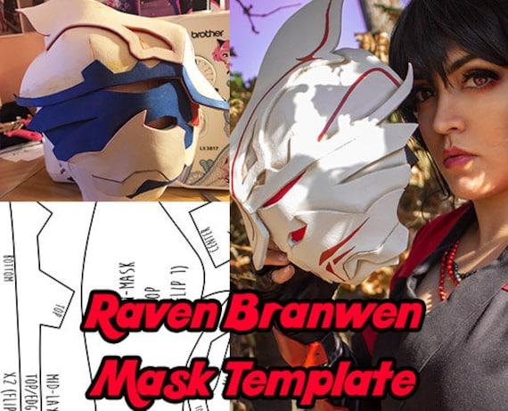 Raven Branwen Mask Template