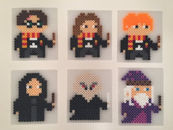 Harry Potter Coasters Perler Beads Harry Potter Hermione Etsy Classy Harry Potter Perler Bead Patterns