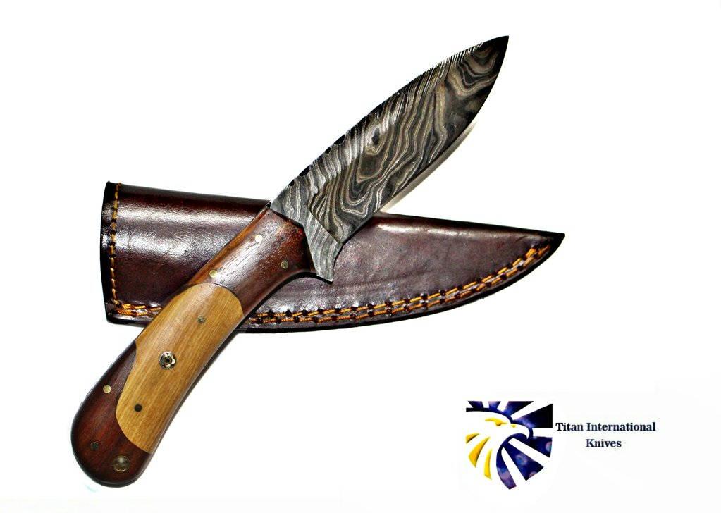 Damassé Mini couteau très beau Main Forgé couteau 4242#2