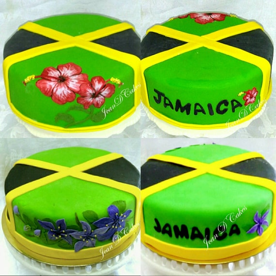 Admirable Jamaican Fruit Cake Jamaican Flag Etsy Funny Birthday Cards Online Overcheapnameinfo