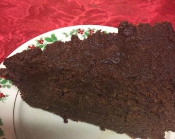"9"" Jamaican Rum Fruit Cake - Authentic Black Cake.  Birthday Cake - Wedding Cake - Anniversary Cake - Wedding Favors"