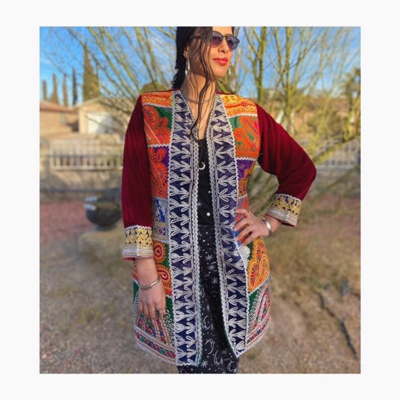 Free Shipping Boho and Gypsy Handmade Coat  Ethnic  Hippie   Afghan  Velvet Coat