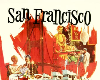 """San Francisco - Delta Air Lines - Mini Poster - (A4 Size - 210mm x 297mm - 8.25"""" x 11.75"""") Ideal For Framing"""