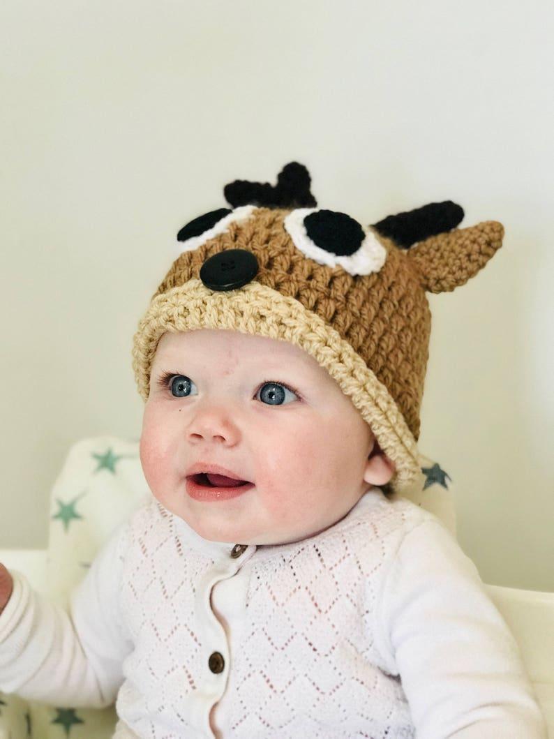 5da76b49511a6 Reindeer hat, Reindeer baby, Deer newborn, Baby deer, Baby animal hat, Baby  deer hat, Deer hat, Baby Rudolph, Holiday hats, Deer photo prop