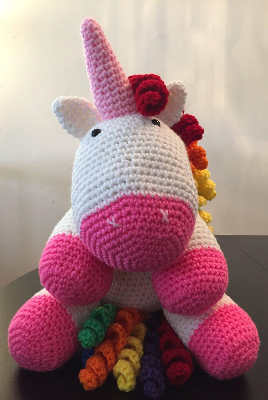 Häkeln Einhorn Unicorn gefüllt Einhorn Baby-Dusche