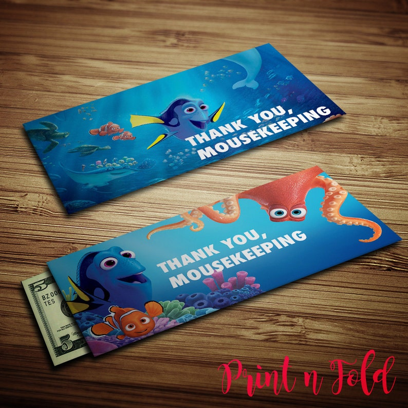 b7293a0f8ce Mousekeeping Envelopes Finding Dory Printables Tip