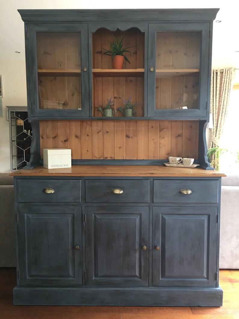 NOW SOLD Antique Pine Welsh Dresser Cabinet For Dining Room