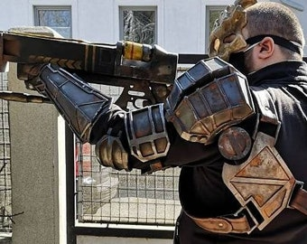 Post Apocalypse/Bounty Hunter armor set - multi part resin kit