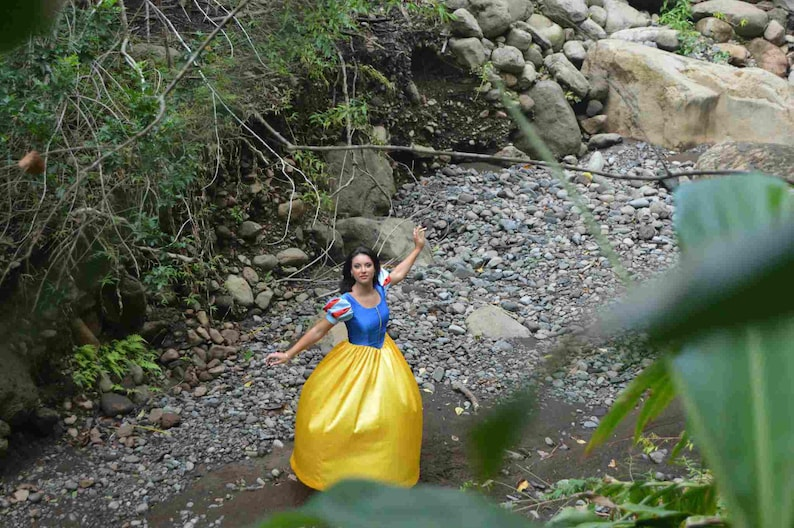 Snow White Princess Costume Once Upon A Time Dress Gown for Girls w Sleeve Options