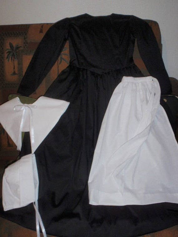 Pilgrim Inspired custom dress with apron