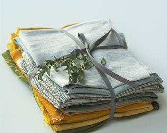 Linen Scraps Bundle, Natural Linen Fabric Remnants For Craft Projects