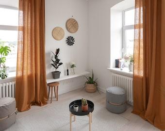 Charmant Long Linen Curtains,Linen Window Panels,Custom Linen Curtains,Linen Window  Drapes,Kitchen Curtains,Bedroom Linen Curtains,Natural Curtains