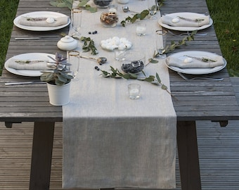 Natural Linen Table Runner,Soft Table Linen,Wedding Linens,Classic Linen Table  Runners,Table Linens,Flax, Softened Table Runner,Table Decor