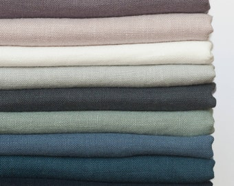 Samples of Linen fabric,Samples of Softened linen fabric by yard,Natural Linen Fabric Sampling,Stonewashed Linen Swatches,Pure Linen Samples